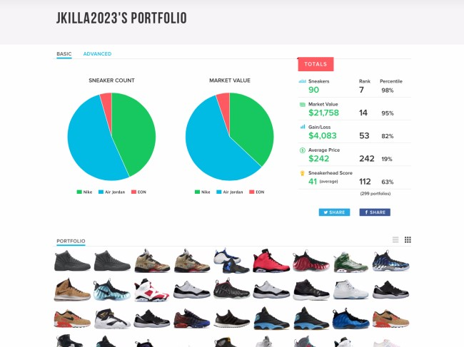 """继投资球鞋转售网站后,骑士老板又建了个""""球鞋股市"""""""