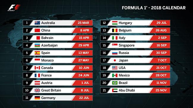 F1新赛程公布,中国大奖赛暂时在列,法国、德国大奖赛回归