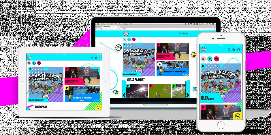 为覆盖低年龄段粉丝,曼城推出面向6-12岁儿童的App