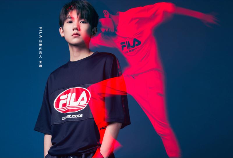 FILA签王源担任品牌代言人,他们承认了在年轻消费市场的野心