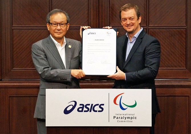 亚瑟士成为国际残奥会最高级别赞助商,将无偿为发展中国家队提供运动用品