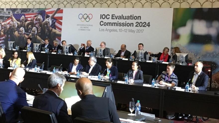 洛杉矶2024申奥迎IOC考察团,奥申委主席:公众支持率88%