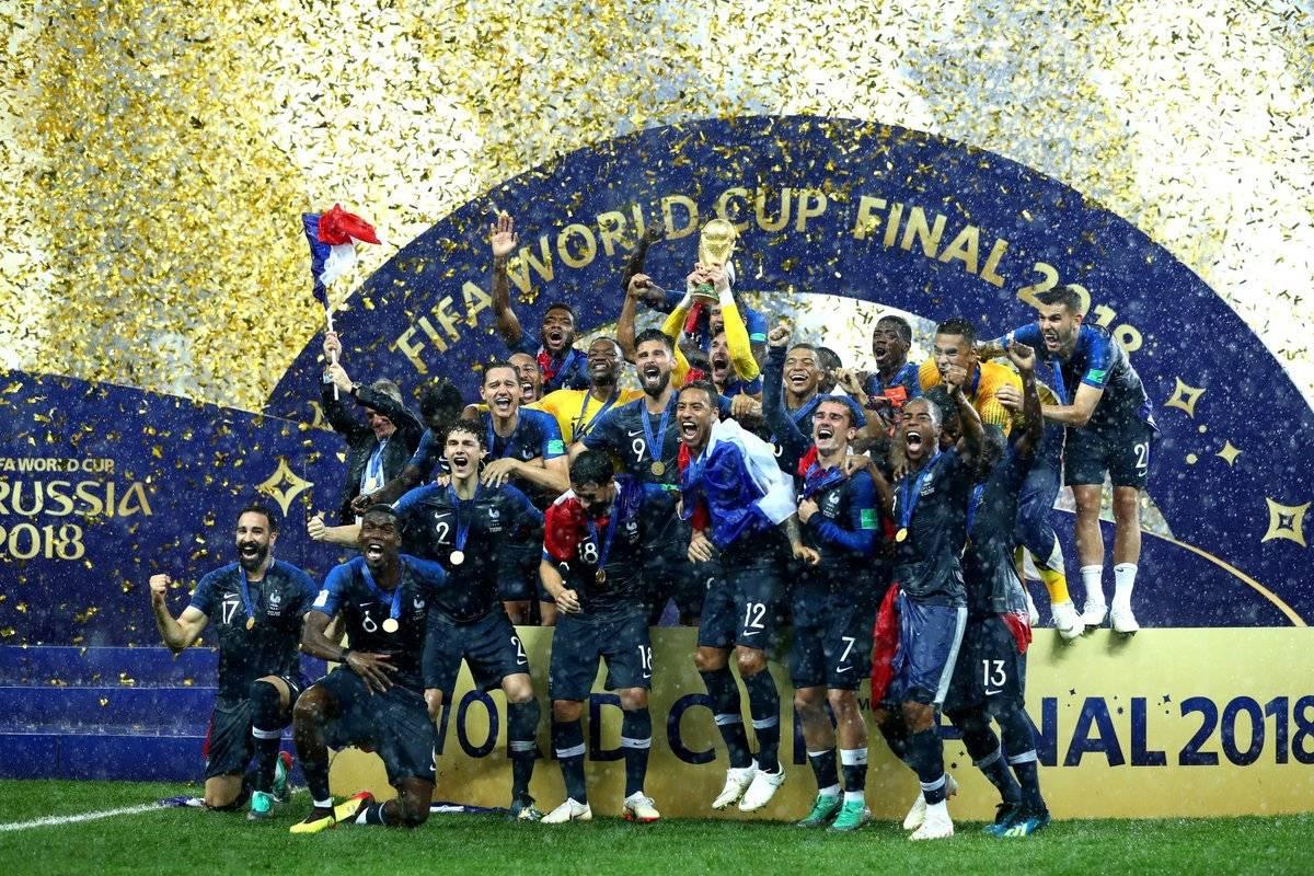 进球大战!法国4-2战胜克罗地亚历史第二度收获大力神杯